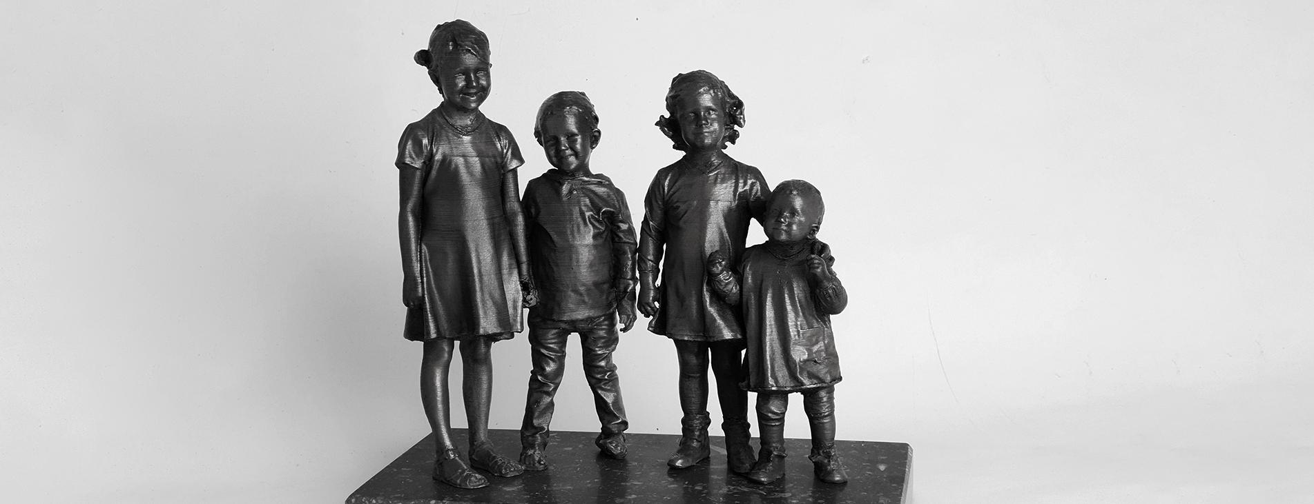 Bronzen beeldjes kinderen